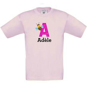 T-shirt enfant imprimé initiale et animal