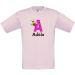 T-shirt enfant perso alphabet animal imprimé