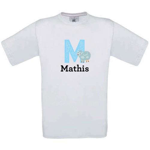 T-shirt enfant perso Alphabet Initial