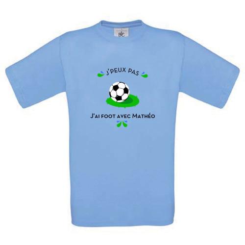 T-shirt enfant perso Jpeux pas Foot