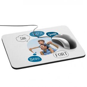 Tapis de souris personnalisé avec photo et design bulles