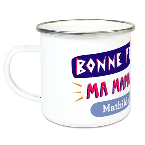 Tasse émaillée spécial fête des mères
