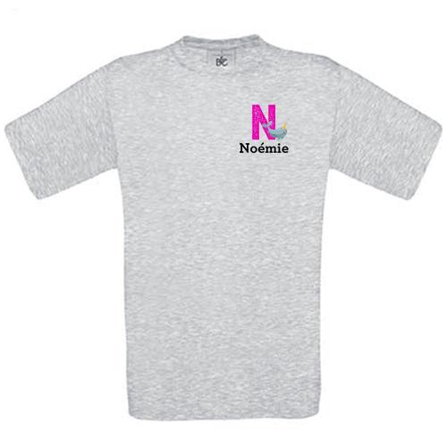 T shirt initiale animal imprimé