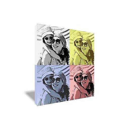 Toile style pop art 4 portraits