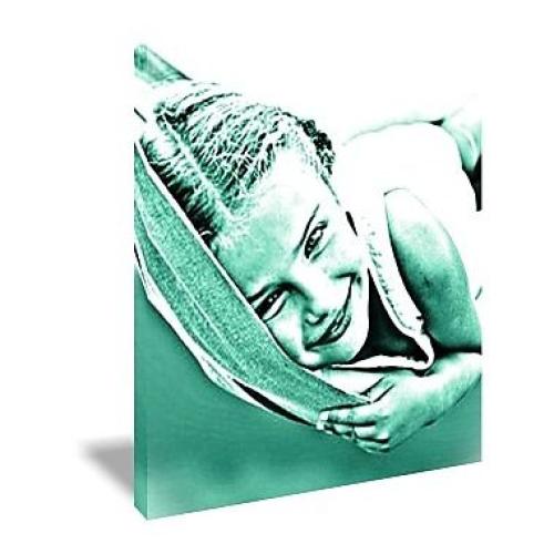 Toile Pop art carrée monochrome