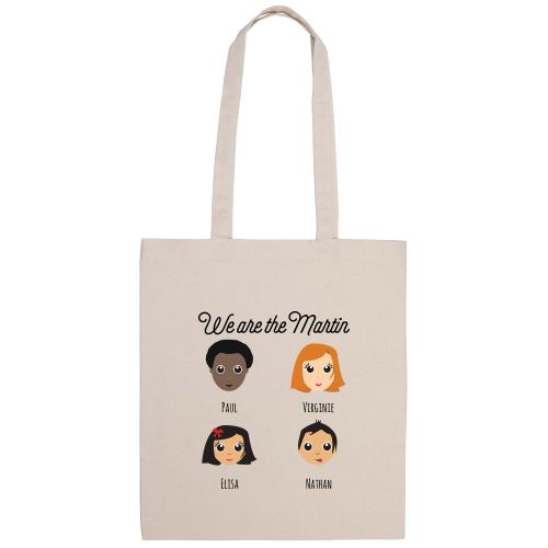 Tote Bag Famille Heureuse