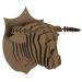 Trophée de chasse taureau en carton