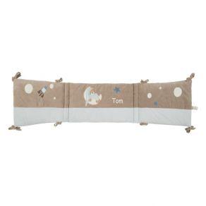 Tour de lit petit ours bleu prénom