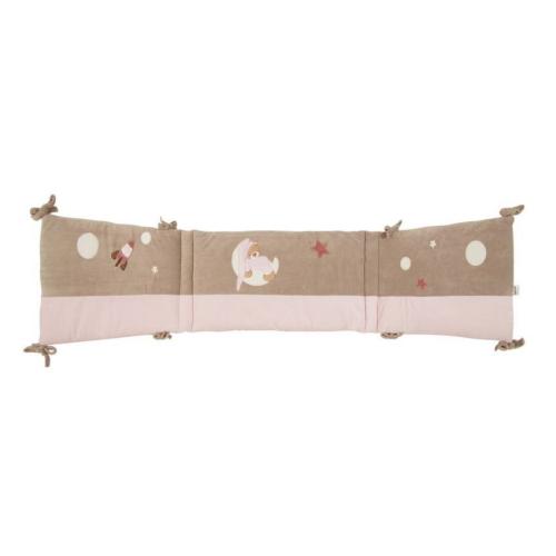 Tour de lit petit ours rose prénom