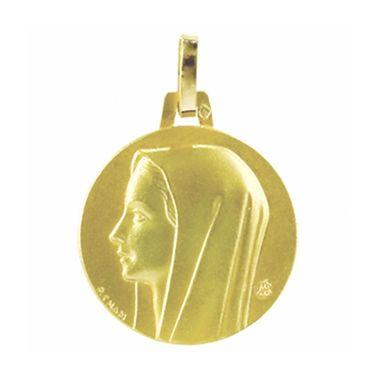 Médaille de baptême vierge de profil