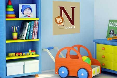 d corations personnalis es pour chambre d 39 enfant. Black Bedroom Furniture Sets. Home Design Ideas