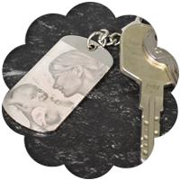 Porte-clés gravés