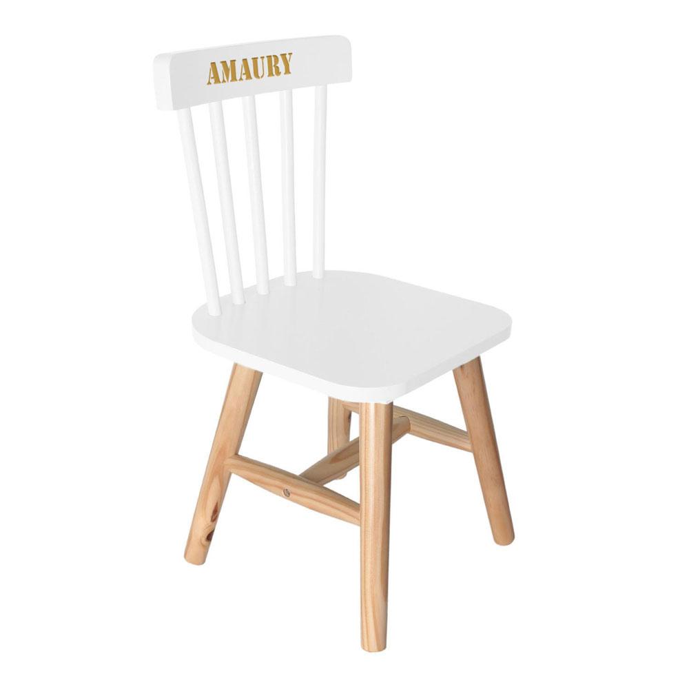 joli cadeau id e cadeau naissance chaise blanche pour enfant personnalis e. Black Bedroom Furniture Sets. Home Design Ideas