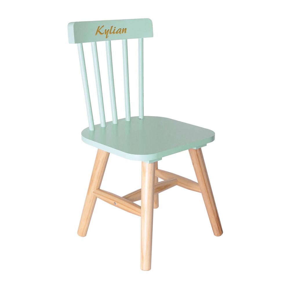 joli cadeau id e cadeau naissance chaise verte pour enfant personnalis e. Black Bedroom Furniture Sets. Home Design Ideas