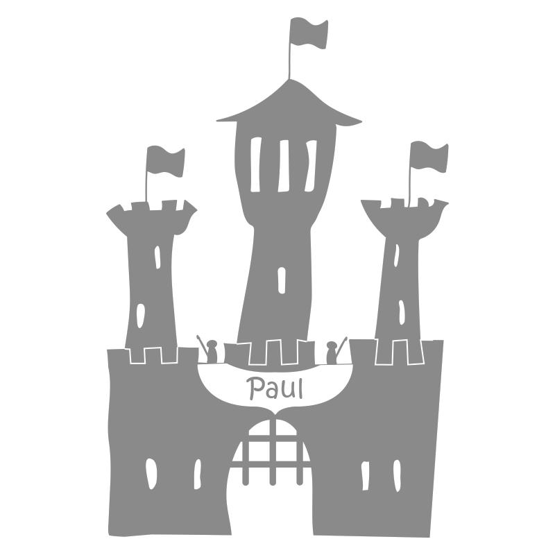 Stickers prénom château fort