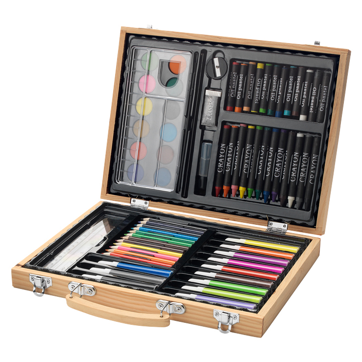 joli cadeau id e cadeau naissance malette dessin 67 crayons. Black Bedroom Furniture Sets. Home Design Ideas