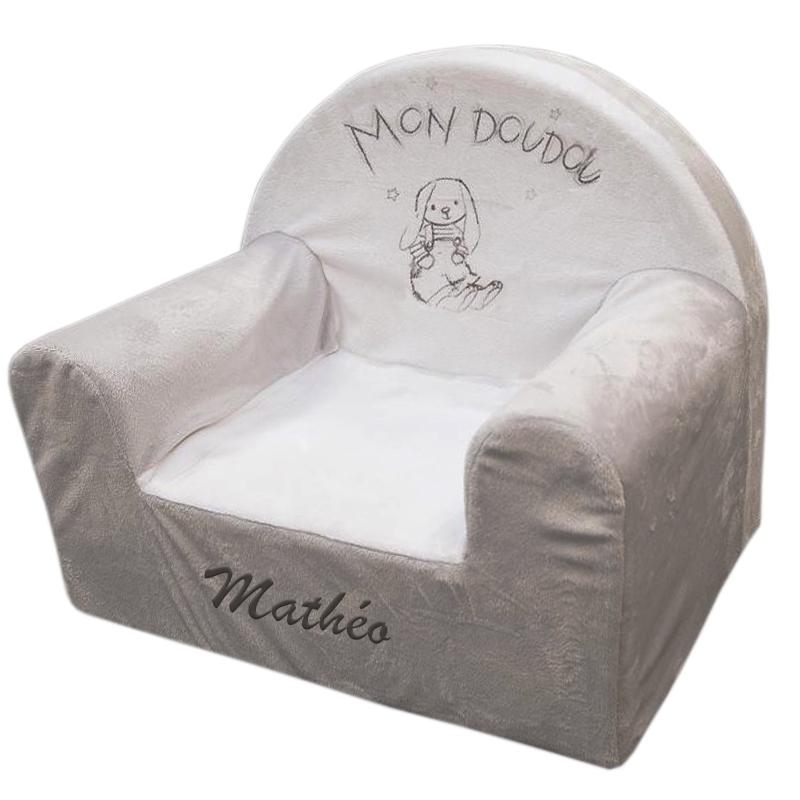 joli cadeau id e cadeau naissance fauteuil en mousse lapin personnalis. Black Bedroom Furniture Sets. Home Design Ideas