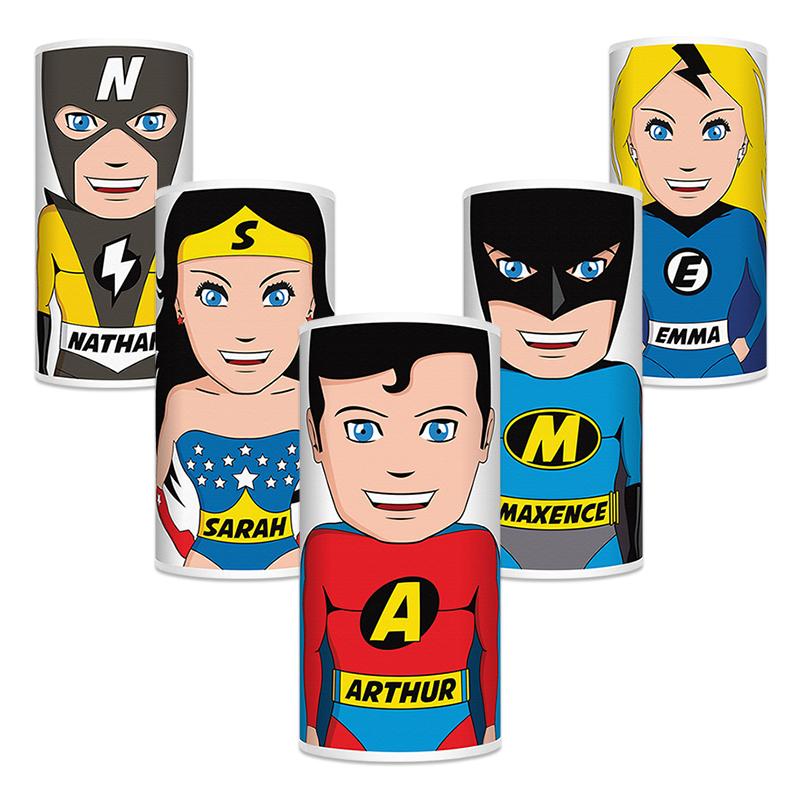 Lampe Super-héros personnalisée