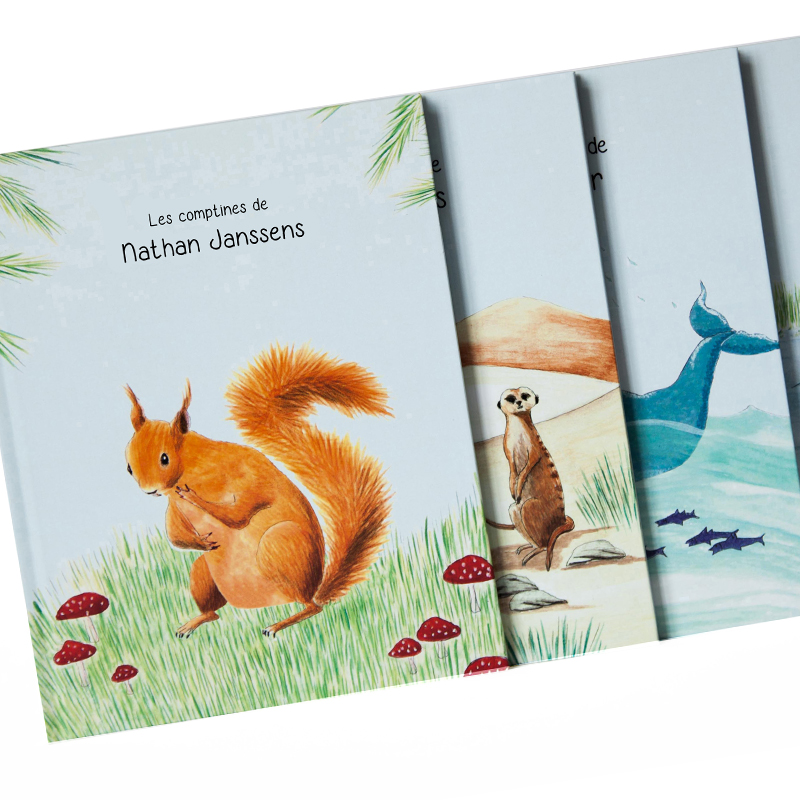 Joli-Cadeau - Idée Cadeau Naissance : Livre Bébé Prénom Animaux