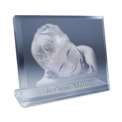joli cadeau id e cadeau naissance photo grav e sur verre 9 x 7 5 cm. Black Bedroom Furniture Sets. Home Design Ideas