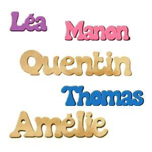Prenom en bois