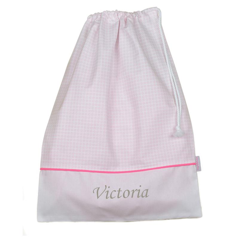 Joli cadeau id e cadeau naissance sac linge brod - Linge blanc devenu rose ...