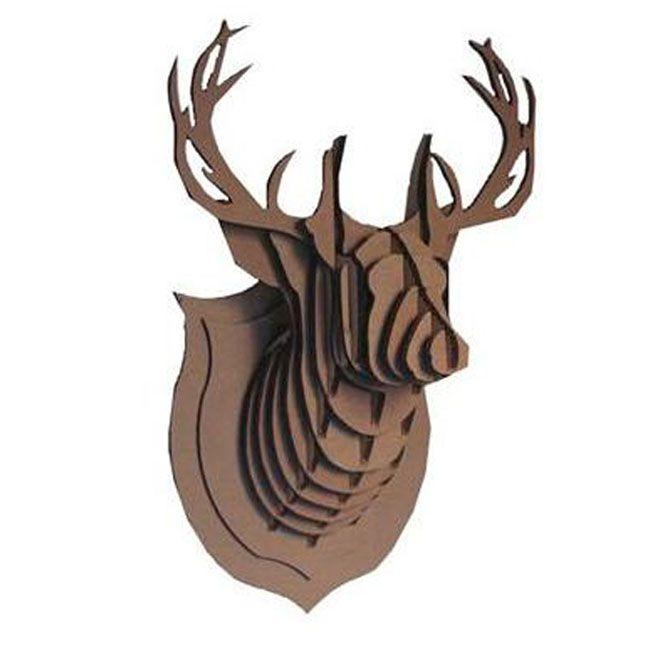 joli cadeau id e cadeau naissance troph e de chasse cerf en carton. Black Bedroom Furniture Sets. Home Design Ideas