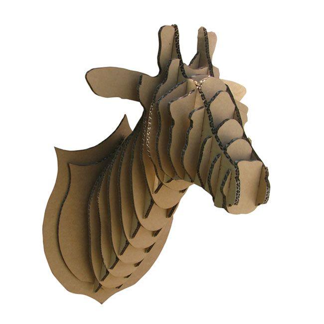 joli cadeau id e cadeau naissance troph e de chasse girafe en carton. Black Bedroom Furniture Sets. Home Design Ideas
