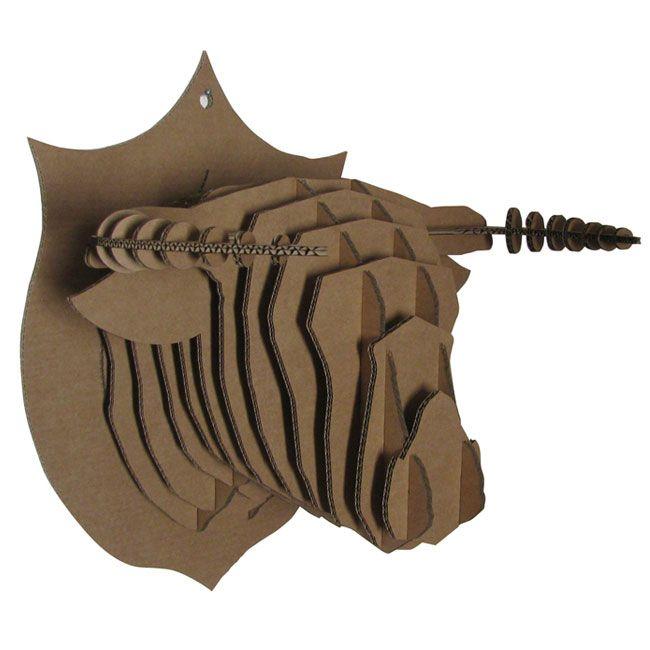 joli cadeau id e cadeau naissance troph e de chasse taureau en carton. Black Bedroom Furniture Sets. Home Design Ideas